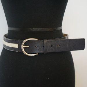 Michael Kors Navy Stripe Belt